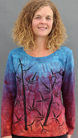 Bamboo Sunset Long Sleeve Roundneck