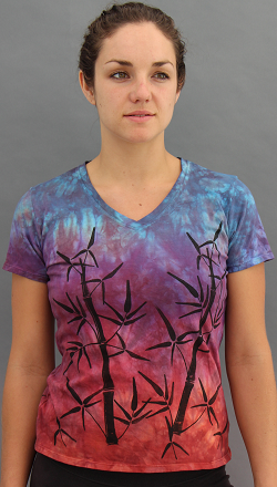 Bamboo Sunset Short Sleeve V-neck