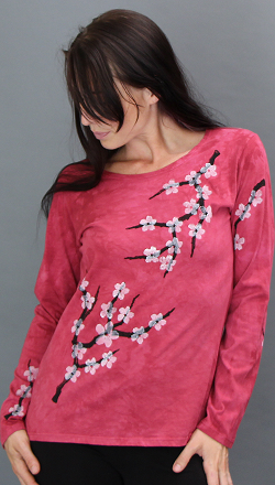 Cherry Blossom Long Sleeve Roundneck
