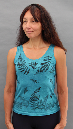 Ferns Aqua Tank Top