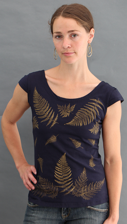Ferns Black Cap Sleeve Top
