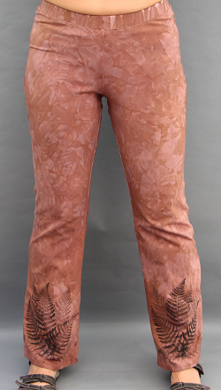 Ferns on Brown Bootleg Pants