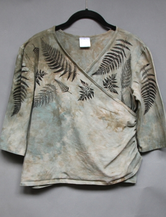 Resized Ferns Faux Wrap Top