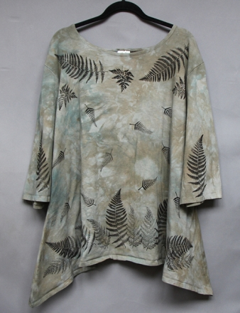 Resized Ferns Trapeze Top