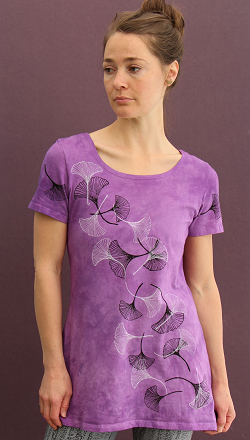 Ginkgo Leaves short sleeve Tunic