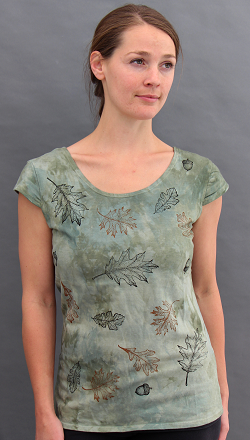 Oak Leaves Cap sleeve top