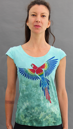 Parrot Cap Sleeve Top