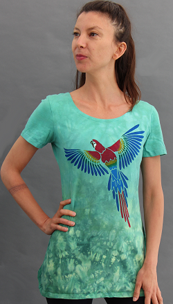 Parrot Short Sleeve Tunic