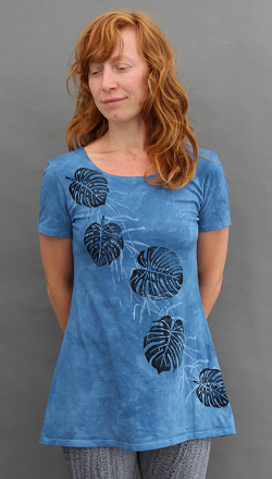 Philodendron Short Sleeve Tunic