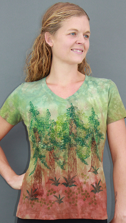 Redwood Grove short sleeve V-neck