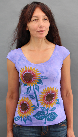 Sunflower Cap Sleeve Top