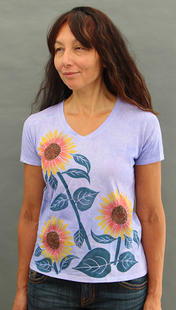Sunflower Short Sleeve V-neck
