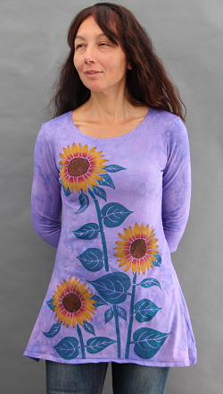 Sunflower Trapeze Top
