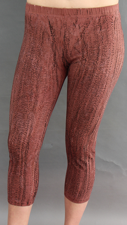 Cropped Legging in Textured Brown
