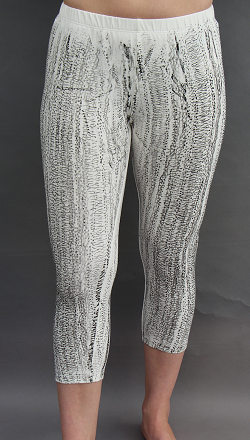 Cropped Legging in Textured White