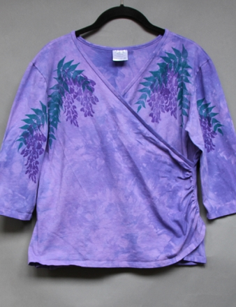 Resized Wisteria Faux Wrap Top