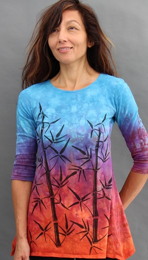 Bamboo Sunset Trapeze Top