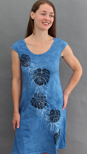 Philodendron Cap Sleeve Dress