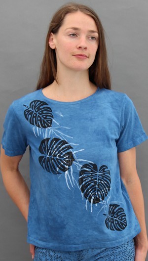 Philodendron Short Sleeve Scoopneck