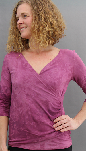 Plum Faux Wrap Top