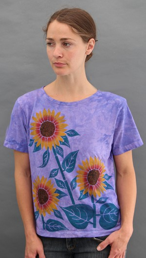 Sunflower Short Sleeve Scoopneck