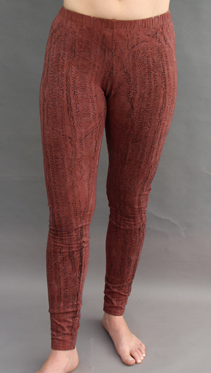 Long Legging in Textured Brown